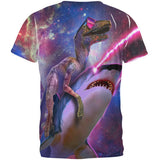 Velociraptor LaserShark All Over Adult T-Shirt