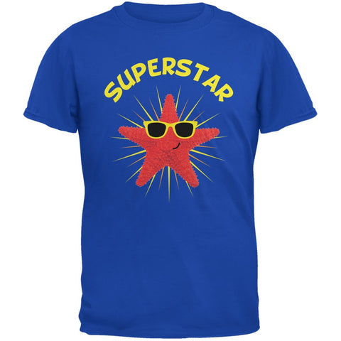 Starfish Superstar Royal Adult T-Shirt