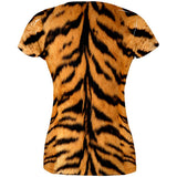 Halloween Tiger Costume All Over Juniors T-Shirt