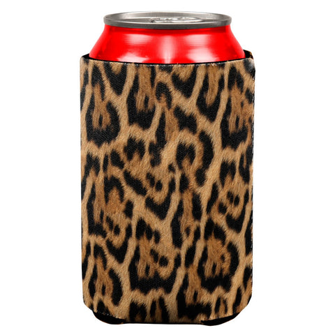 Leopard Print All Over Can Cooler