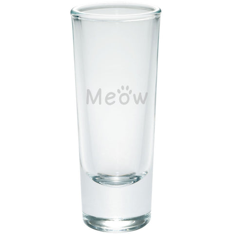 Meow Cat Paw Etched Shot Glass Shooter
