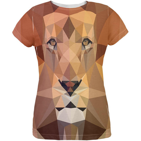 Low-Poly Lion All Over Womens T-Shirt