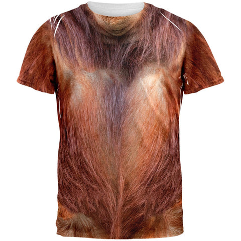 Halloween Orangutan Costume All Over Adult T-Shirt
