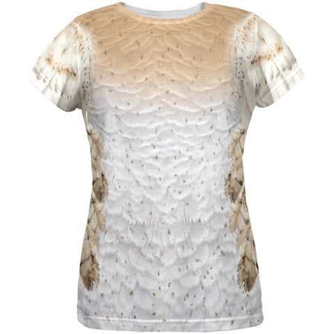 Halloween Barn Owl Costume All Over Womens T-Shirt