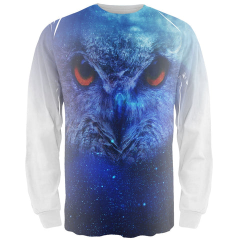 Celestial Night Owl All Over Adult Long Sleeve T-Shirt