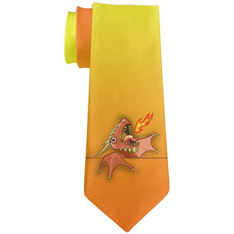 Tie Pet Dragon All Over Neck Tie