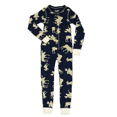 Blue Classic Moose Flapjack Youth Pajamas
