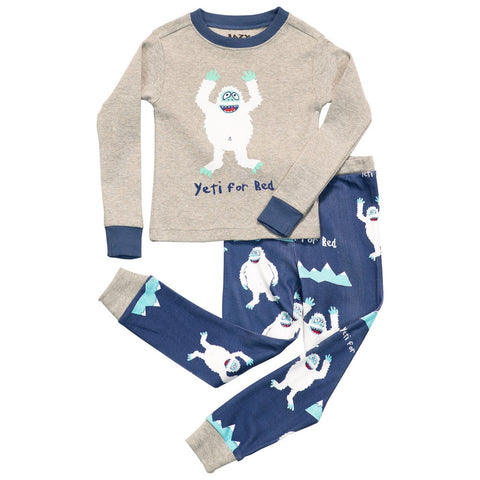 Yeti For Bed Boys Toddler Pajama Set