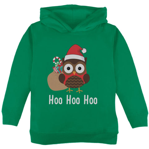 Christmas Hoo Hoo Hoo Owl Green Toddler Hoodie