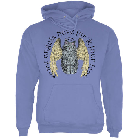 Cat Angel Blue Adult Hoodie