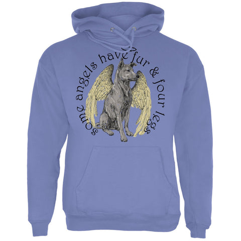 Dog Angel Blue Adult Hoodie