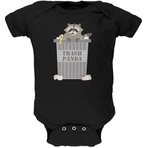Trash Panda Raccoon Black Soft Baby One Piece