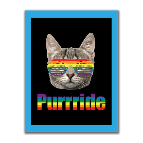 LGBT Purride Funny Cat 4x3in. Rectangular Decal Sticker