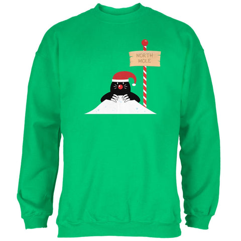 Christmas The North Mole Pole Irish Green Adult Sweatshirt