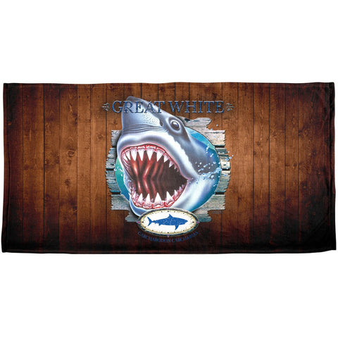Great White Trophy All Over Beach Towel