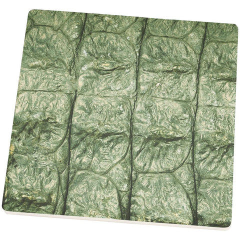 Alligator Pattern Square Sandstone Coaster
