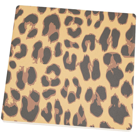 Cheetah Pattern Square Sandstone Coaster