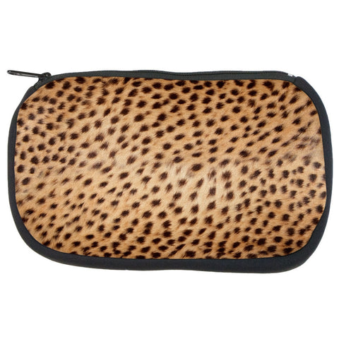 Cheetah Fur Makeup Bag
