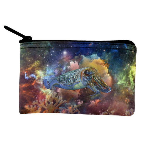 Cuttlefish IN SPACE Coin Purse