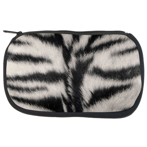 White Siberian Tiger Fur Makeup Bag