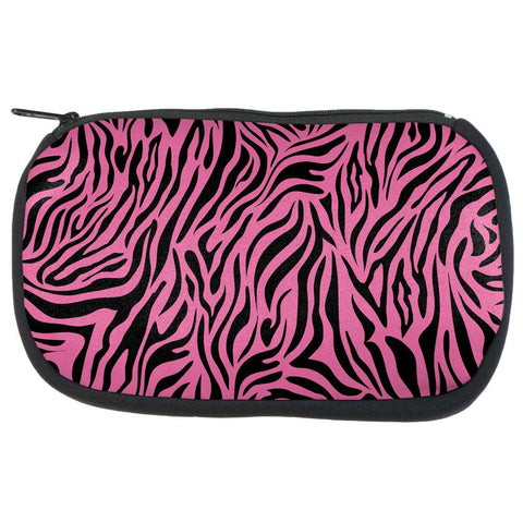 Zebra Print Pink Makeup Bag