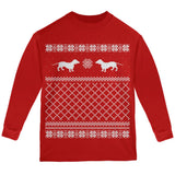 Dachshund Ugly Christmas Sweater Forest Youth Long Sleeve T-Shirt
