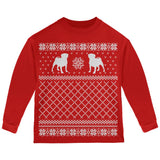 Pug Ugly Christmas Sweater Forest Youth Long Sleeve T-Shirt