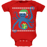 Ugly Christmas Sweater Octopus Kelly Green Soft Baby One Piece