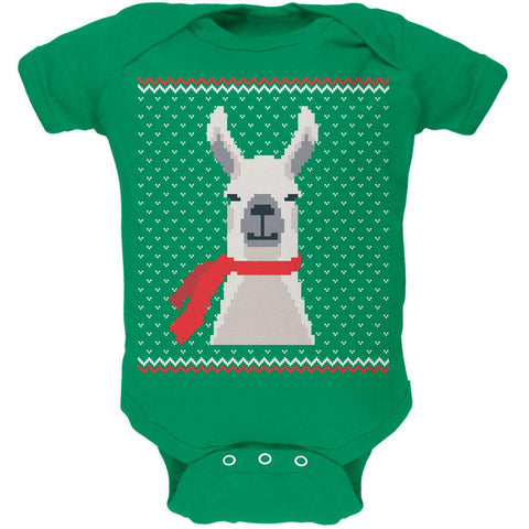 Ugly Christmas Sweater Big Llama Soft Baby One Piece