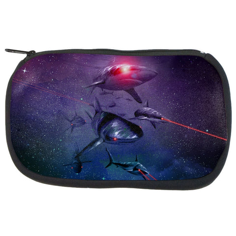 Laser Sharks In Space Cosmetic Bag
