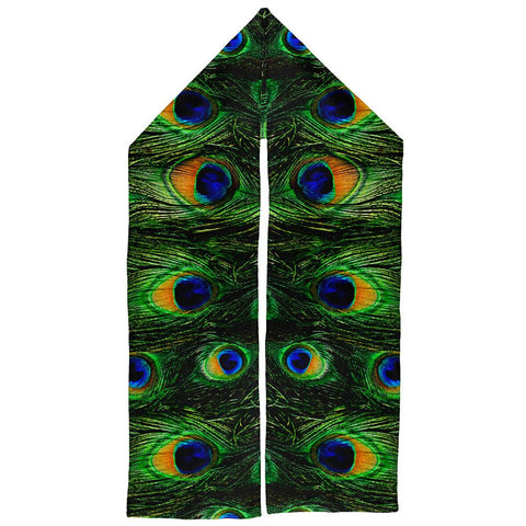 Peacock Feathers Warm Fleece Scarf