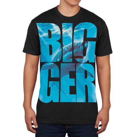 Size Does Matter Great White Shark Black Adult Soft T-Shirt