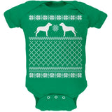 Pit Bull Ugly Christmas Sweater Kelly Green Soft Baby One Piece