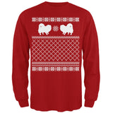 Pomeranian Ugly Christmas Sweater Forest Adult Long Sleeve T-Shirt