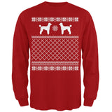 Poodle Ugly Christmas Sweater Forest Adult Long Sleeve T-Shirt