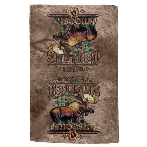 Northwoods Moose All Over Hand Towel