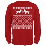Golden Retriever Ugly Christmas Sweater Forest Adult Long Sleeve T-Shirt