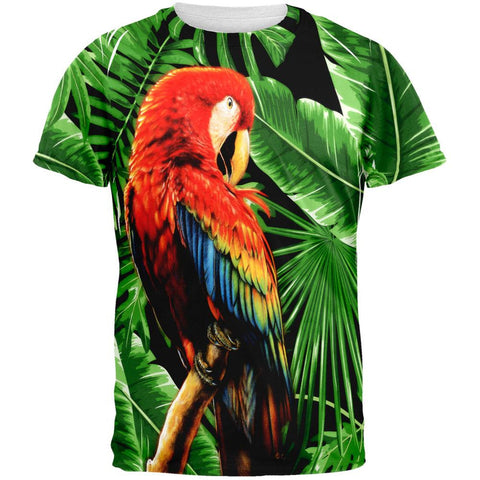 Tropical Parrot All Over Adult T-Shirt