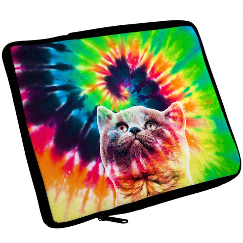 Cat Tie Dye iPad Tablet Sleeve
