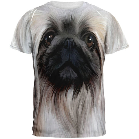Pekingese Face All Over Adult T-Shirt