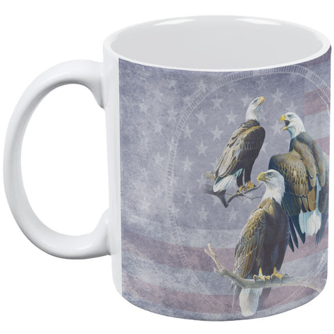 Eagle Trio America White All Over Coffee Mug