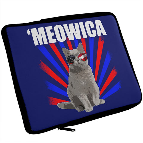 4th of July Meowica Cat iPad Tablet Sleeve