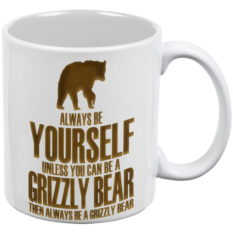 Always Be Yourself Bear White All Over Coffee Mug Set Of 2
