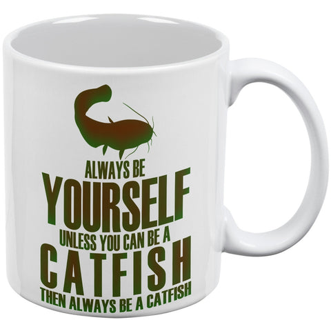 Always be Yourself Catfish White All Over Coffee Mug Set Of 2