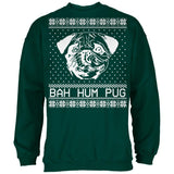 Christmas Bah Hum Pug Forest Adult Sweatshirt