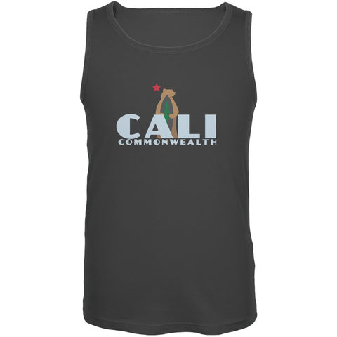 CALI Surf Bear Charcoal Grey Adult Tank Top