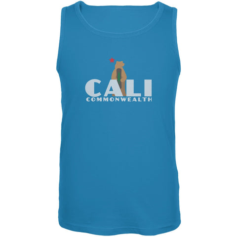 CALI Snowboard Bear Turquoise Adult Tank Top
