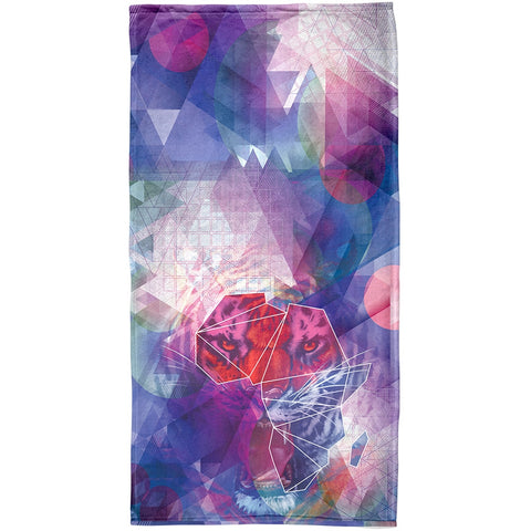 Africa Map Tiger All Over Beach Towel