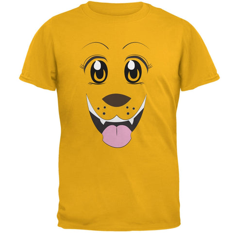 Anime Dog Face Inu Gold Adult T-Shirt