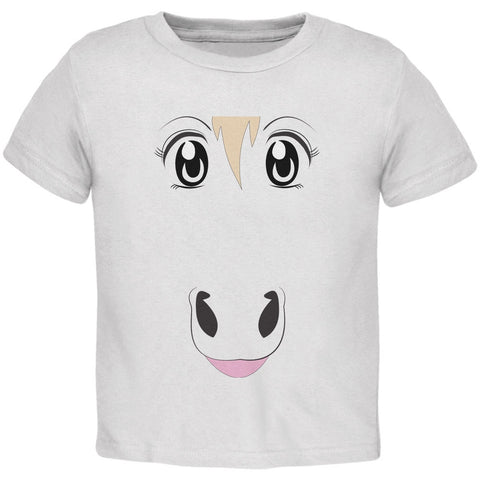 Anime Horse Face Uma White Toddler T-Shirt